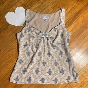 Loft sleeveless patterned top